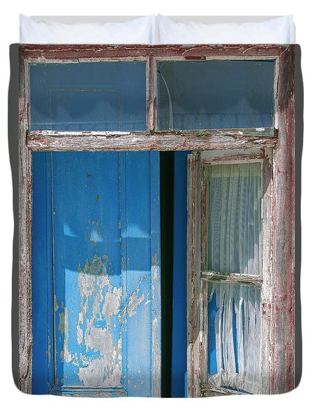 Blue Window Duvet Cover