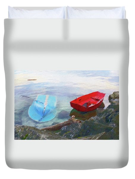 2 Boats  Duvet Cover