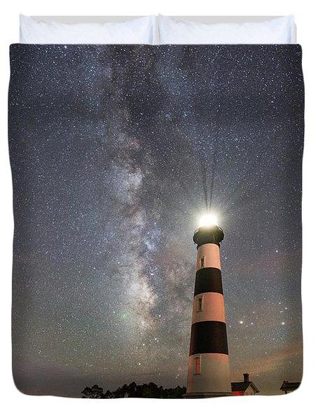 Bodie Island Light Milky Way Duvet Cover
