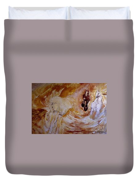 Bringers Of The Dawn Section Of Mural Duvet Cover