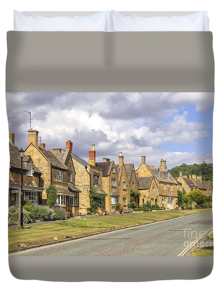 Broadway Village Duvet Cover by Patricia Hofmeester