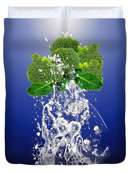 Broccoli Splash Duvet Cover by Marvin Blaine