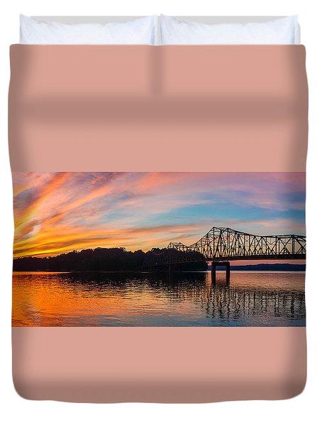 Browns Bridge Sunset Duvet Cover