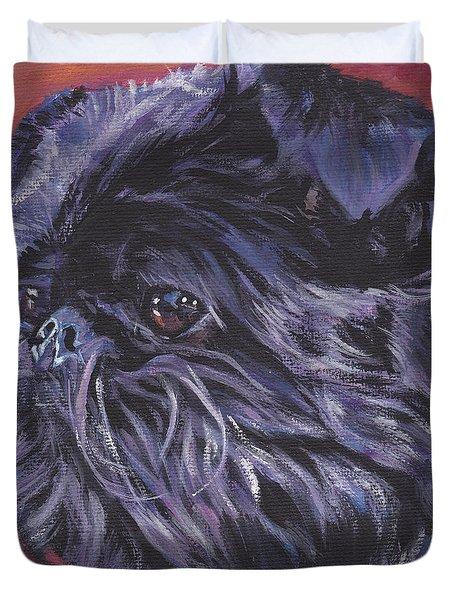 Brussels Griffon Duvet Cover by Lee Ann Shepard