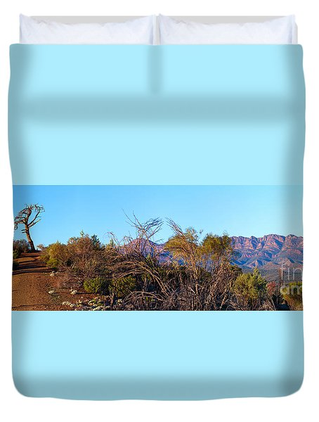 Duvet Cover featuring the photograph Bunyeroo Valley by Bill  Robinson