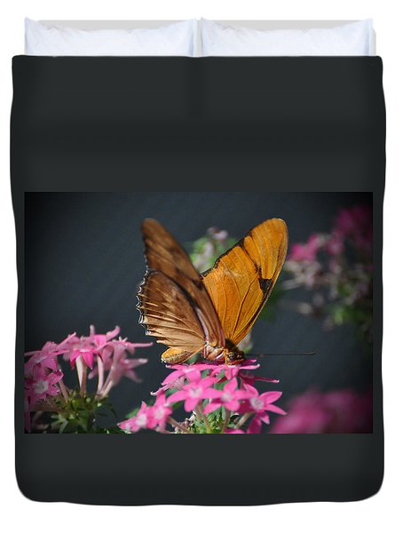 Duvet Cover featuring the photograph Butterfly by Savannah Gibbs