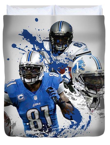 Calvin Johnson Lions Duvet Cover