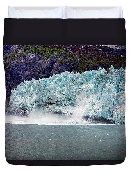 Calving Glacier Duvet Cover by Hugh Smith