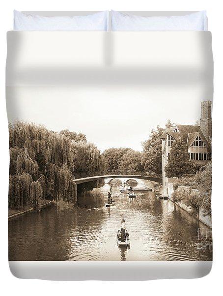 Cambridge River Punting Duvet Cover by Eden Baed