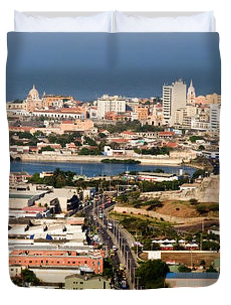 Cartegena Colombia Duvet Cover by Thomas Marchessault