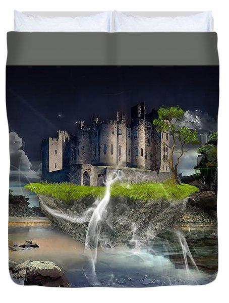 Castle In The Sky Art Duvet Cover by Marvin Blaine