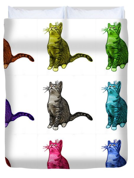 Cat Art - 3771 Bb Duvet Cover by James Ahn