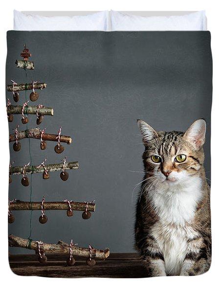 Cat Christmas Duvet Cover