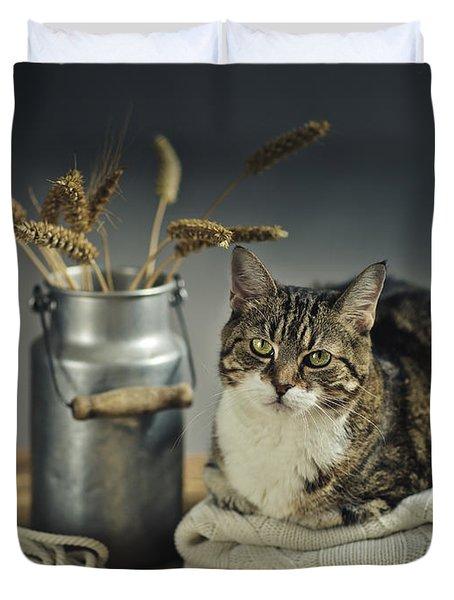 Cat Portrait Duvet Cover