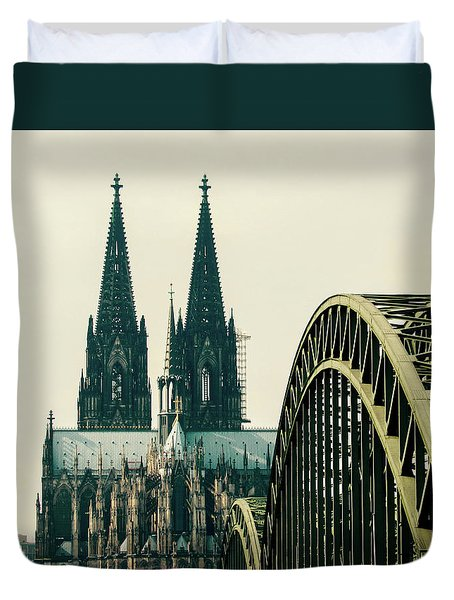 Cathedral Duvet Cover by Cesar Vieira