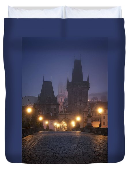 Charles Bridge, Prague, Czech Republic Duvet Cover