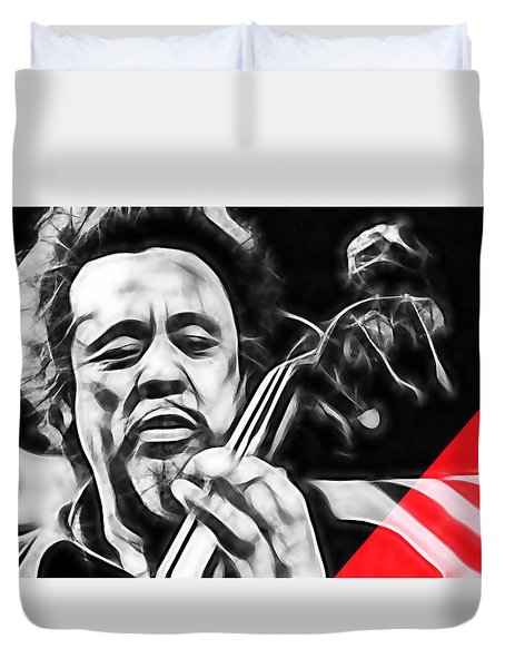 Charles Mingus Collection Duvet Cover by Marvin Blaine