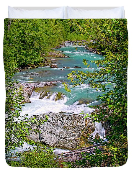 Duvet Cover featuring the photograph Cheakamus River by Sharon Talson