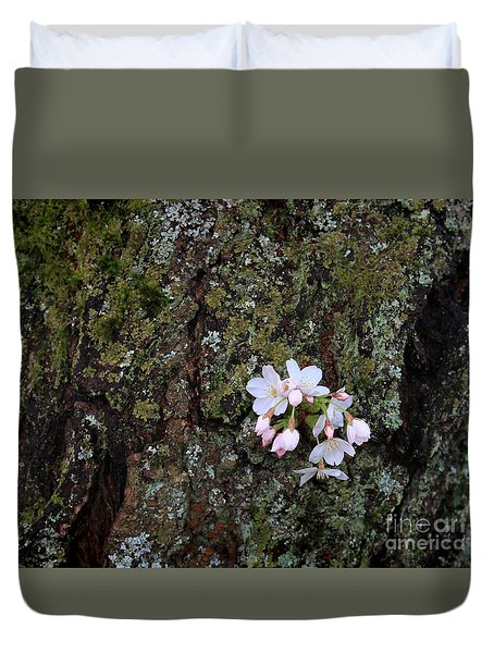 Duvet Cover featuring the photograph Cherry Blossoms by Tari Simmons