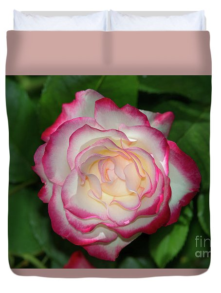 Cherry Parfait Rose Duvet Cover by Glenn Franco Simmons