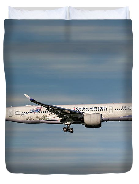 China Airlines Airbus A350-941 Duvet Cover