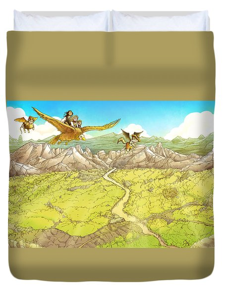 Chiricahua Mountains Duvet Cover by Reynold Jay