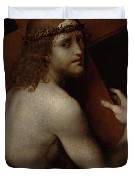 Christ Carrying His Cross Duvet Cover