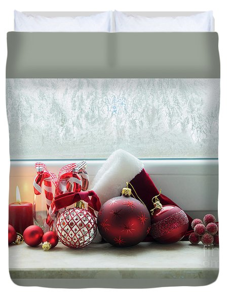 Christmas Windowsill Duvet Cover