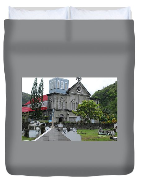 Duvet Cover featuring the photograph Church by Gary Wonning