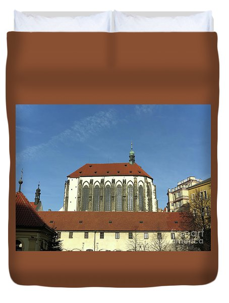 Duvet Cover featuring the photograph Church Of The Virgin Mary Of The Snow by Michal Boubin
