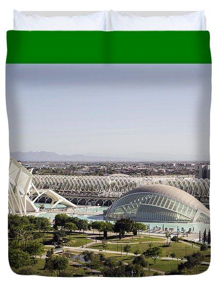 Ciudad De Las Artes Y Ciencias Valencia Duvet Cover