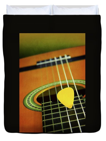 Duvet Cover featuring the photograph Classic Guitar  by Carlos Caetano
