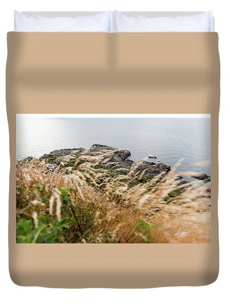 Cliffs At Kullaberg Duvet Cover