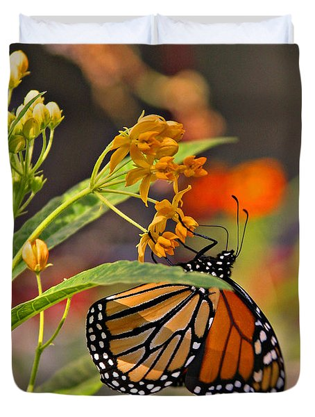 Clinging Butterfly Duvet Cover