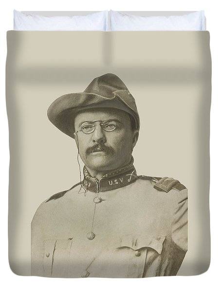 Colonel Theodore Roosevelt Duvet Cover by War Is Hell Store