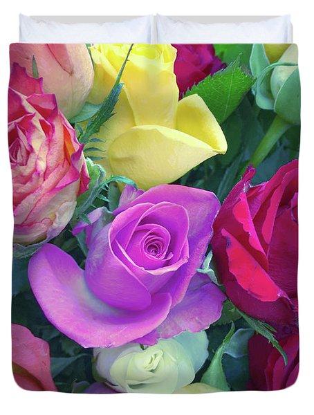 Colourful Flowers Duvet Cover
