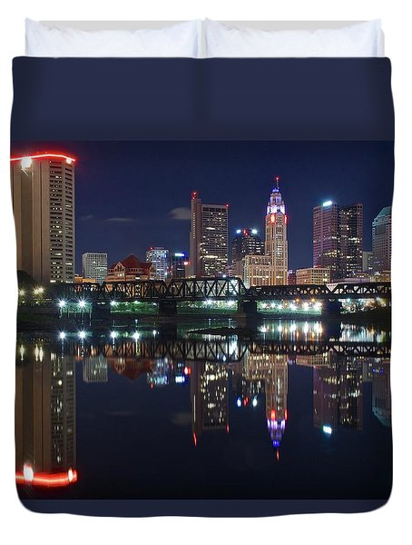 Columbus Ohio Duvet Cover by Frozen in Time Fine Art Photography