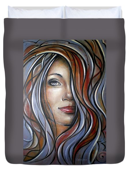 Cool Blue Smile 070709 Duvet Cover by Selena Boron