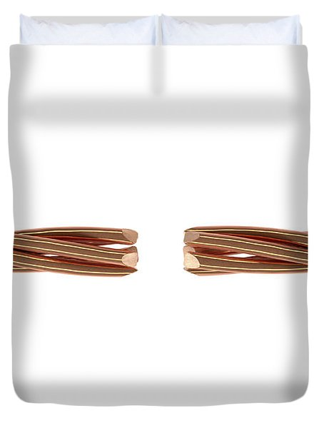 Copper Wire Strands Disconnected Duvet Cover