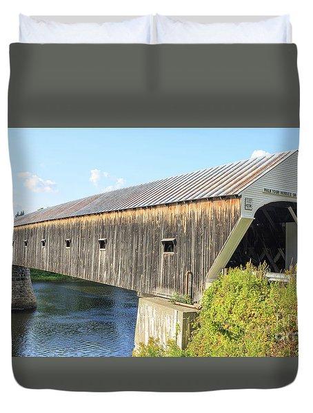 Cornish-windsor Covered Bridge Duvet Cover by Edward Fielding