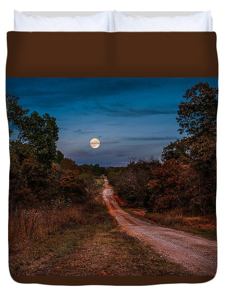 Country Road Duvet Cover by Doug Long
