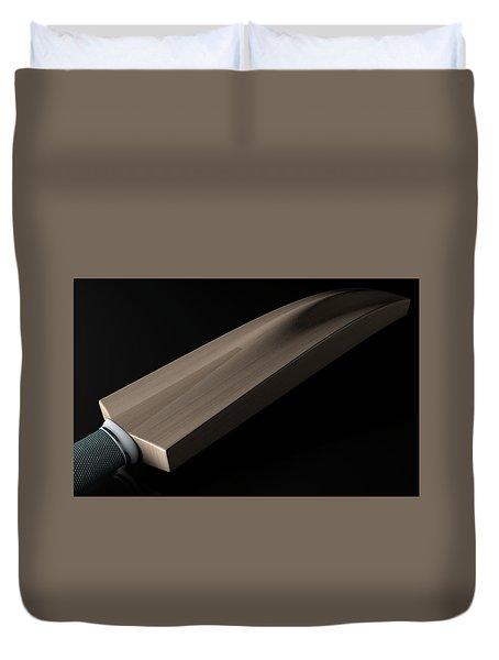 Cricket Bat Dark Duvet Cover