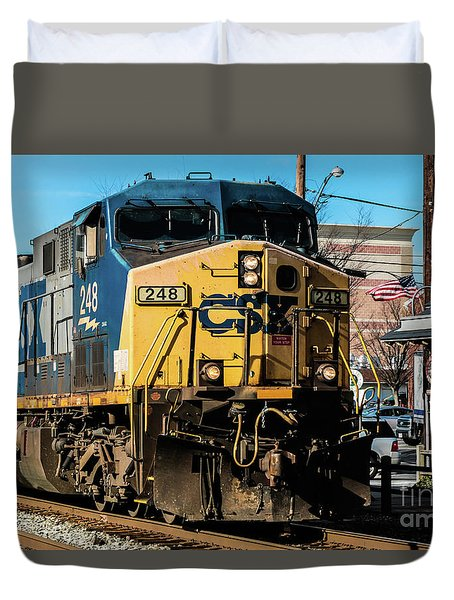 Csx Engine Gaithersburg Maryland Duvet Cover