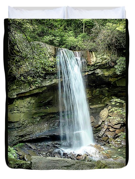 Cucumber Falls Pennsylvania Duvet Cover