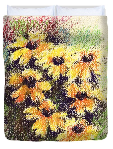 Daisies Duvet Cover by Rachel Christine Nowicki