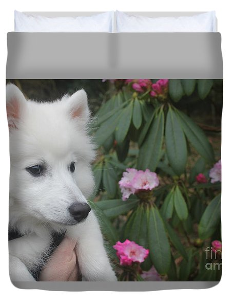 Duvet Cover featuring the photograph Daisy by David Grant