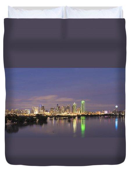 Dallas Skyline Twilight Duvet Cover
