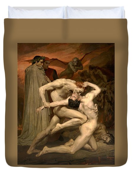 Dante And Virgil In Hell  Duvet Cover