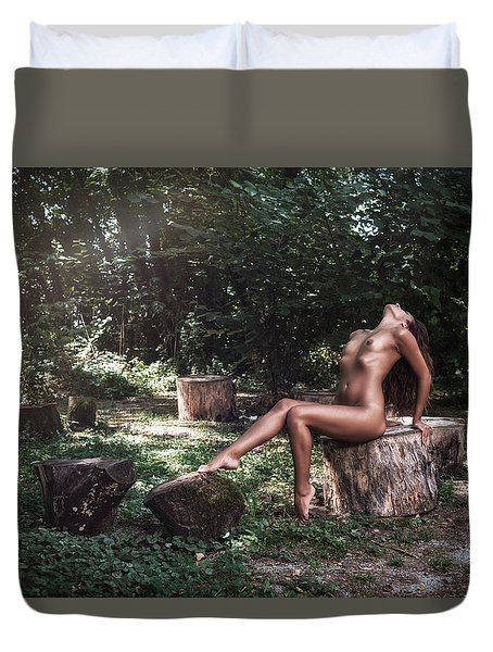 Duvet Cover featuring the photograph Dany by Traven Milovich