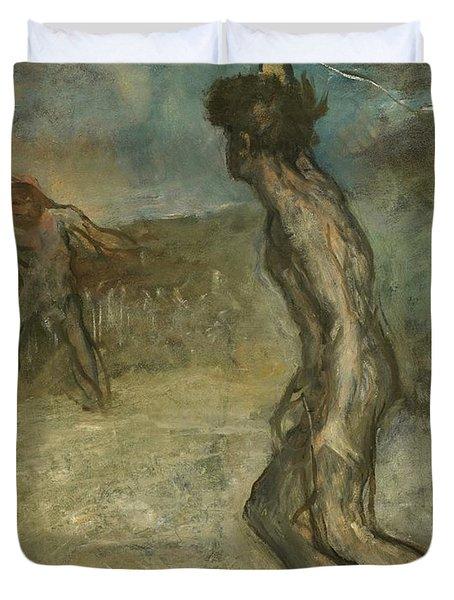 David And Goliath Duvet Cover
